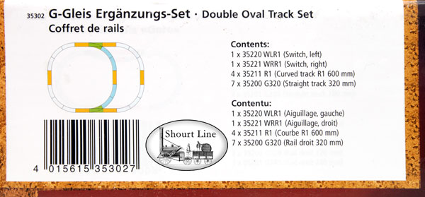 PIKO 35302 Double Oval Track Set Label