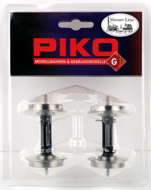 PIKO 36167 LGB G SCALE Hard-Chrome Plated 30mm Ball Bearing 30mm Metal Wheels w Power Pickup  package front