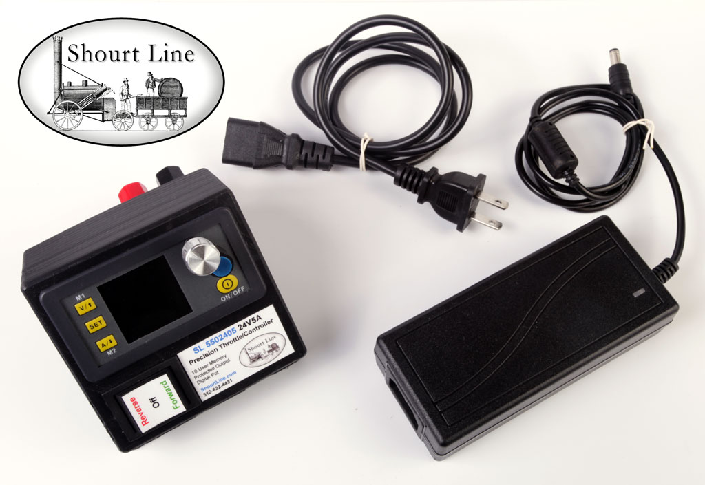 SL 5502405 5A Amp High Efficiency Precision Voltage/Amperage Throttle + 24V6.5A Switching Power Supply w AC cord